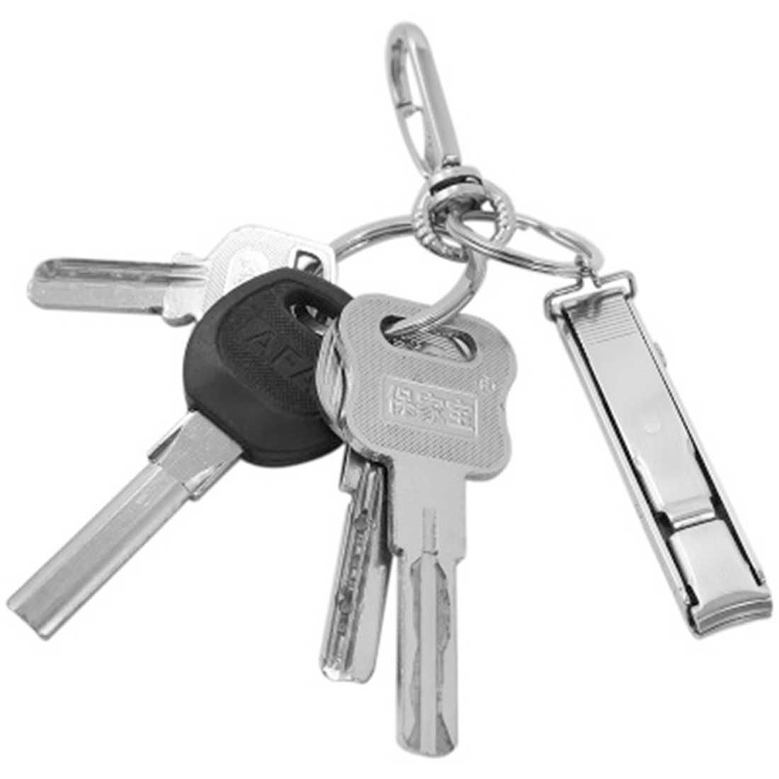 1 قطعة جديد وصول الترا سليم الصغيرة طوي المقاوم للصدأ مسمار كليبرز المفاتيح EDC جيب أداة