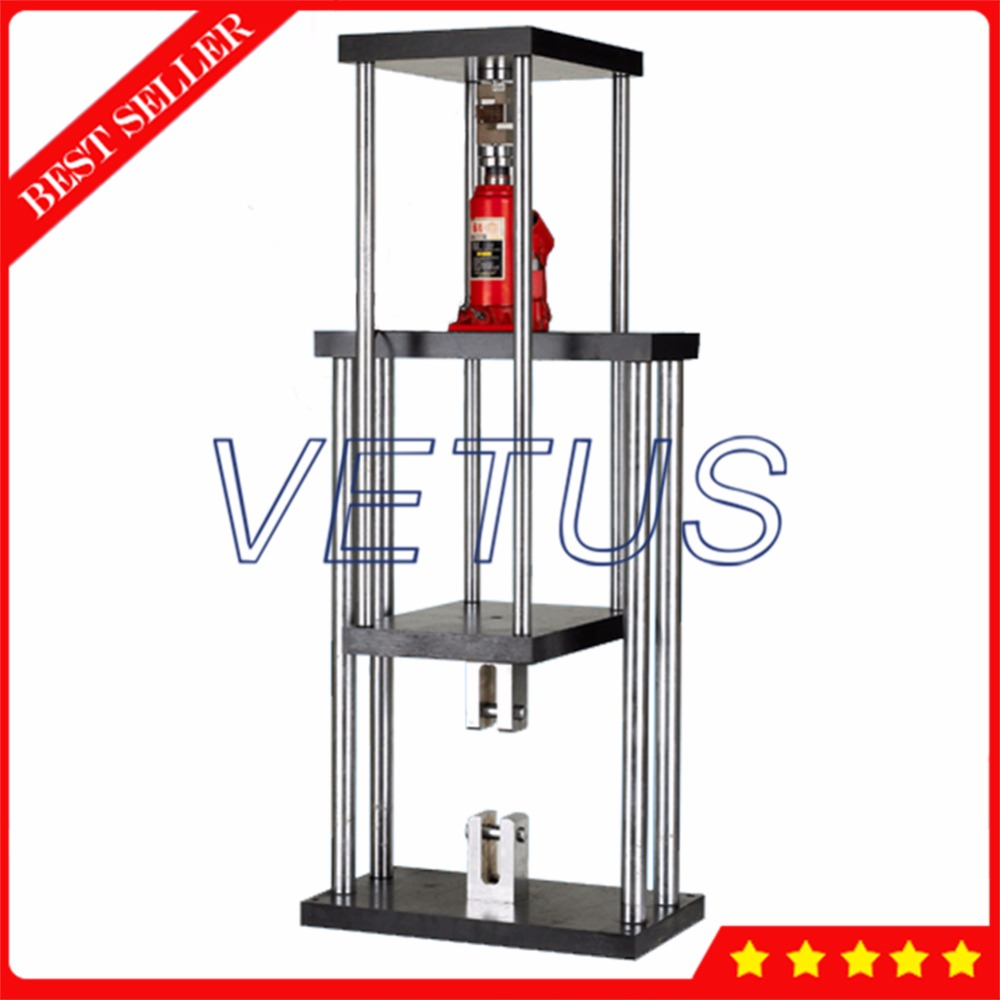 ALR 20T Max load 20T Manual Hydraulic testing machine test platform Stand for HF series push pull force gauge measurement