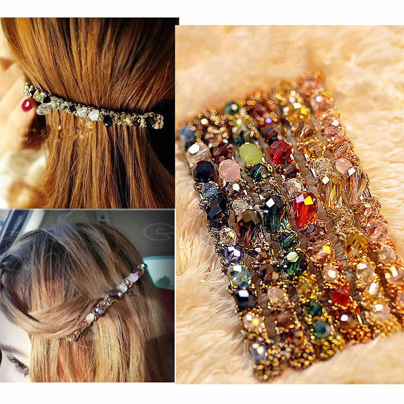 2pcs Korean Colored Rhinestone Hair Clip Women Girls Barrette Hairpin Princess Hairgrip Hairband Hair Accessories free shipping 10pcs lot new double satin bow hair clip rhinestone bowknot hairpin girls kids barrette