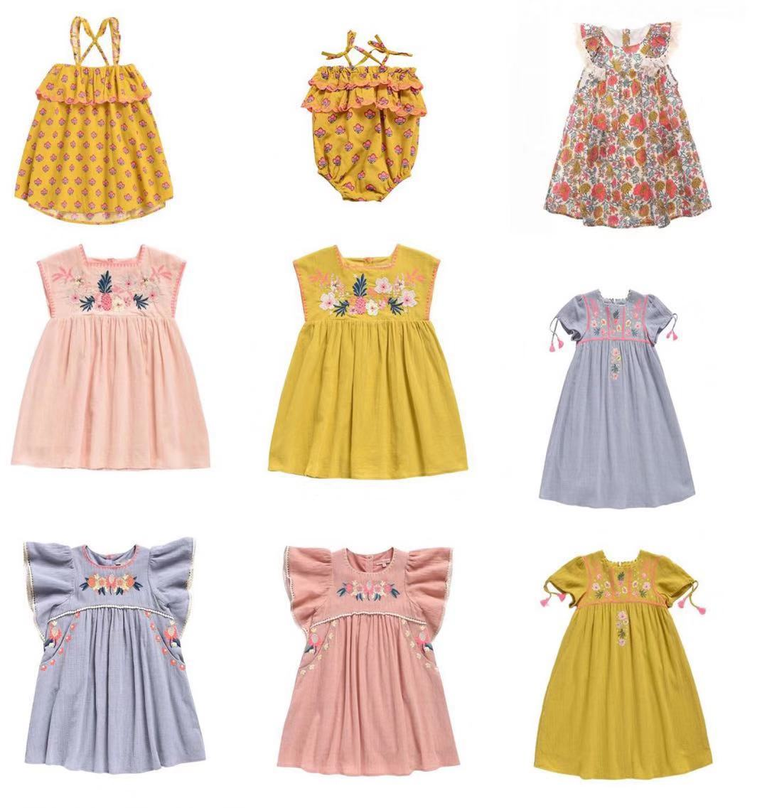 summer girls embroidery luxury dresses party for vestidos kids clothing flower