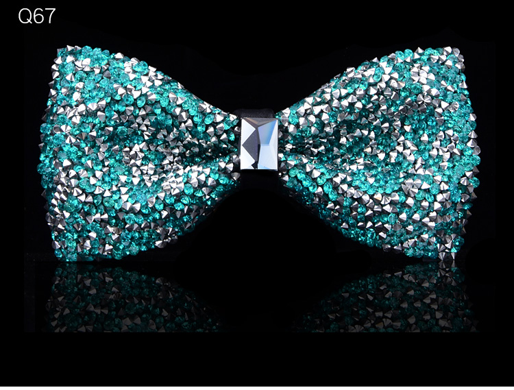 New bow tie crystal bling butterfly knot for men wedding banquet feast club party bridegroom shinning 13