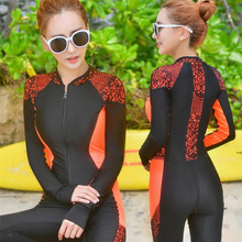891af2864da90 2019 Women s Surf clothes one piece swimwear rash guard sexy lace patchwork  beach swim wear diving