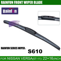 RAINFUN 22+16 inch dedicated car wiper blade for 2007 2011 NISSAN VERSA SEDAN&HATCH / NISSAN LATIO (C11)/ ALMERA CLASSIC