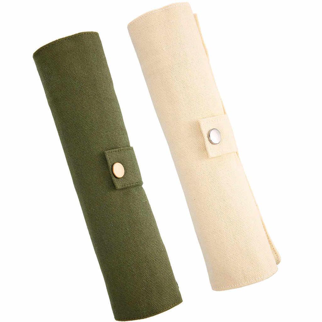 Herbruikbare Bamboe Bestek Set Draagbare Servies Houten Bestek Vork Lepel Mes Set met Bestek Zak voor Reizen Gebruiksvoorwerp Set