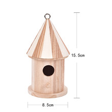 Wooden Bird House Hanging Nest Bird Nesting Boxes with Loop for Home Garden Yard Decoration Birdhouses Pet Supply Accessories(China)