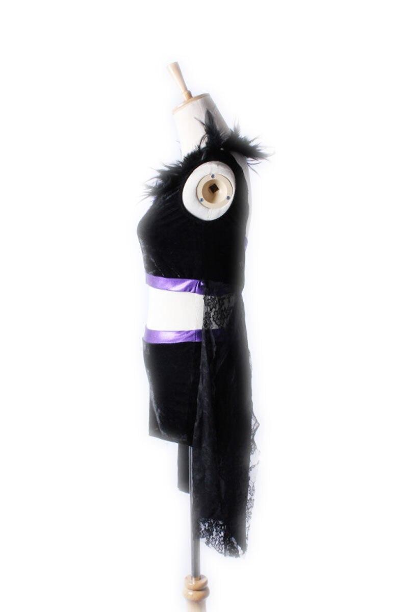 Gyermek új, két részből álló toll csipke női latin tánc ruha - Jelmezek - Fénykép 2