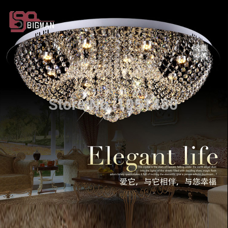 new item round K9 crystal chandelier modern crystal foyer lights