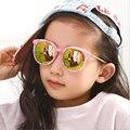 Alta Qualidade Lente Espelhada Óculos infantis Para Meninos Meninas Crianças Óculos De Sol Óculos de Sol Redondos Para Children100 % UV400 Mármore