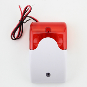 Image 3 - Free Shipping!9 12V Mini Indoor Wired Siren with Red light Siren Flash Sound Home Security Alarm Strobe System 110dB Hot Sale