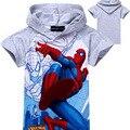 Nuevos Niños Del Verano de Manga Corta Camisetas Niños de la Historieta Del Hombre Araña Camisetas Kids Fashion Hoodies En Stock Retail XMZ040