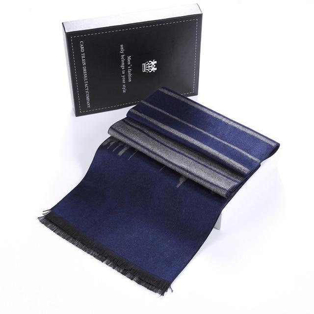 2016 estilo Caliente recomendar! bufanda de la cachemira de los nuevos hombres de negocios de ocio/de Los Hombres del nuevo estilo caliente de la bufanda de cuello Negro caja de embalaje
