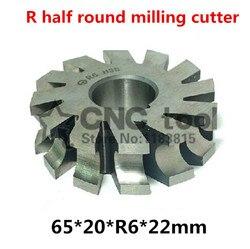 R6 65*20 * R6 * 22mm otwór wewnętrzny HSS wklęsłe promień frezy R półokrągłe frez darmowa wysyłka