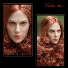 GACTOYS GC002 Black Widow 1/6 scale action figures 12inch head Modeling Scarlett Johansson Long RedBrown Hair Women's Head Model все цены