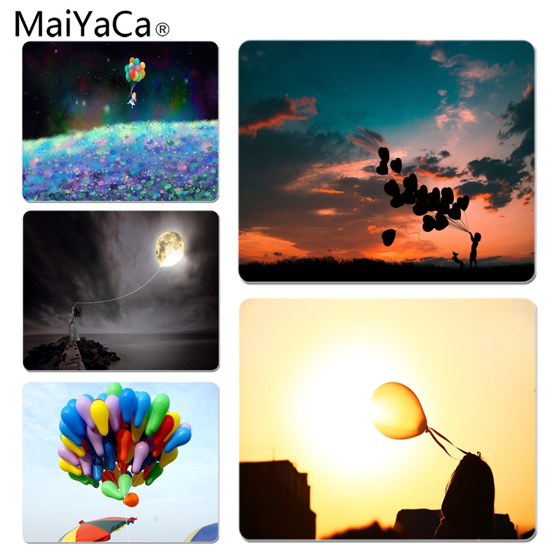 MaiYaCa Cool New Balloon Girl DIY Design Pattern Game mousepad Size for 180x220x2mm and 250x290x2mm Rubber Mousemats