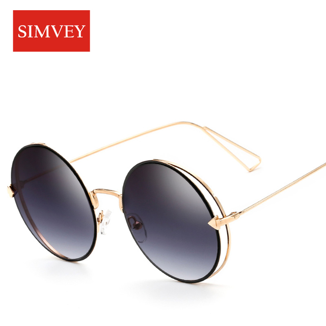 Simvey 2017 Fashion Trend Women Big Round Wire Frame Sunglasses ...