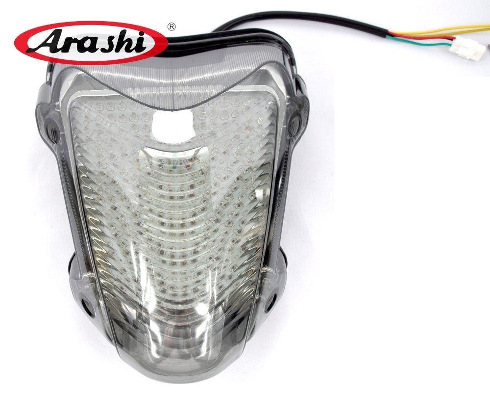 Arashi Pour SUZUKI HAYABUSA GSXR1300 2008-2013 LED De Frein Arrière Feu arrière GSXR GSX R GSX-R 1300 GSX1300R 08 09 10 11 12 13