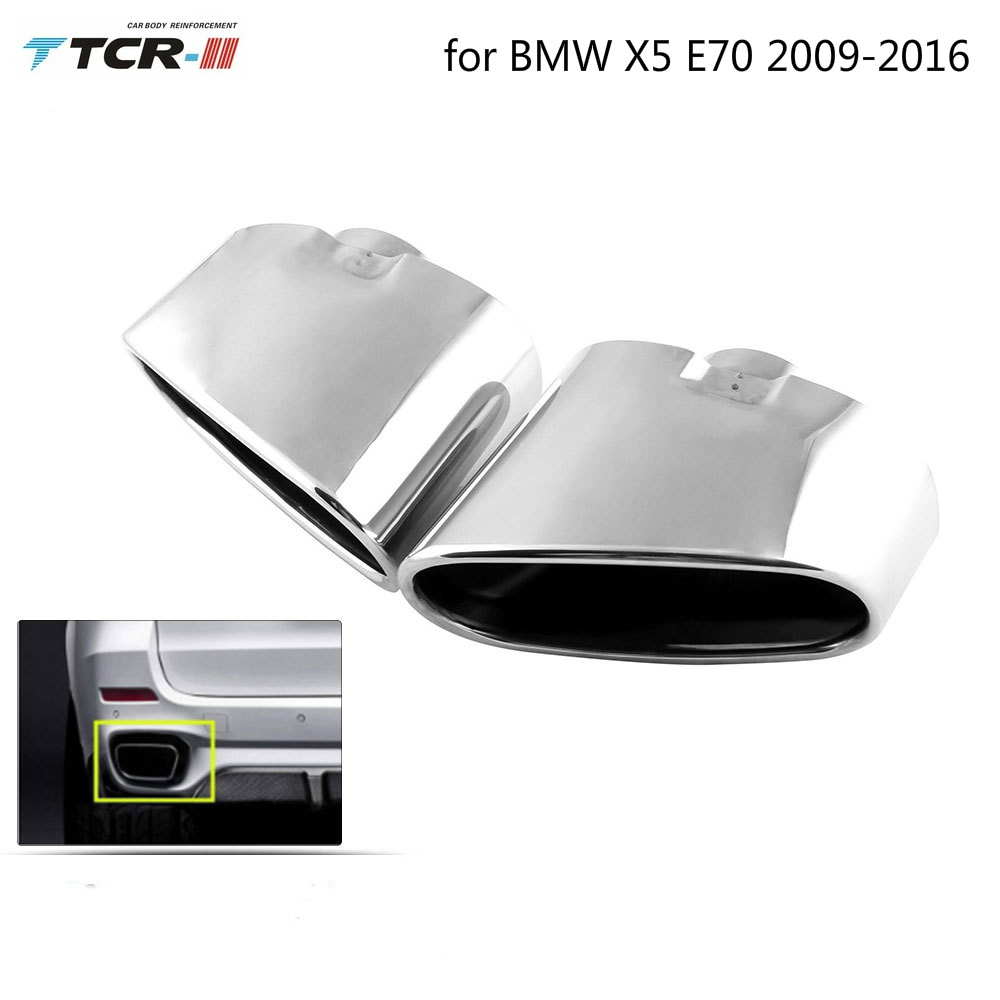 Auto Moulding Fittings Stainless Steel Automotive Exhaust Muffler for BMW  X5 E70 2009-2016 Performance Exhaust Systems Mufflers