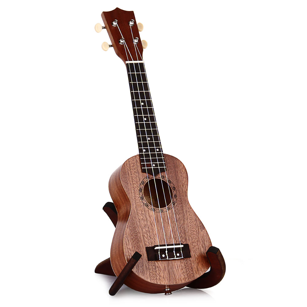 21 Inch Universal Soprano Ukulele Hawaii Mini Guitar 4 Strings 15 Frets Uke Brown Rosewood Instrument Ukelele Gift FREE SHIPPING