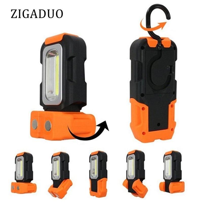 купить Super Bright Rotatable COB LED Work Light Inspection Lamp Hand Torch Magnetic Camping Tent Lantern With Hook по цене 336.59 рублей
