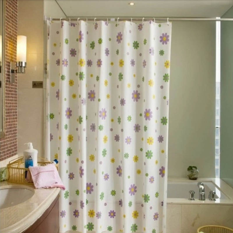 New 3D Shower Curtain PEVA Waterproof Floral 3d Shower Curtains Bathroom  Curtain 150x180,180x180 Bath