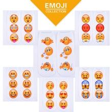New 3D Fashion Printing Expression Sock Women Men Unisex Socks Boat Emoji Pattern Meias Feminina Funny Low Ankle Socks 1Pair