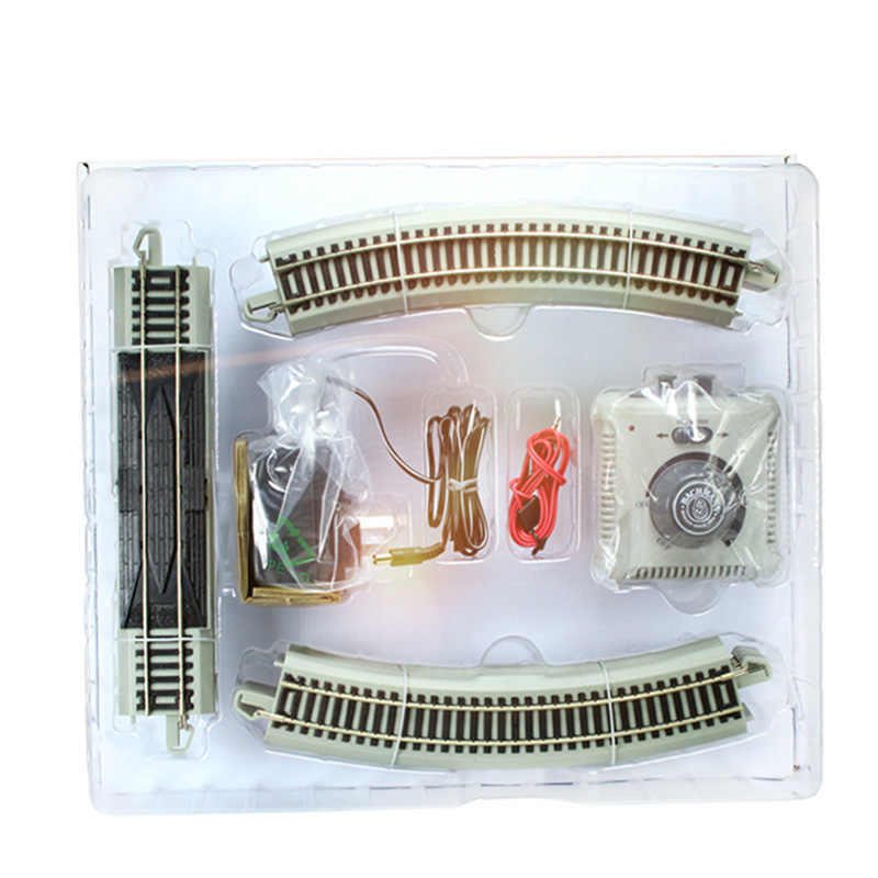 Simulation metal nickel alloy nickel alloy plate track set train track model