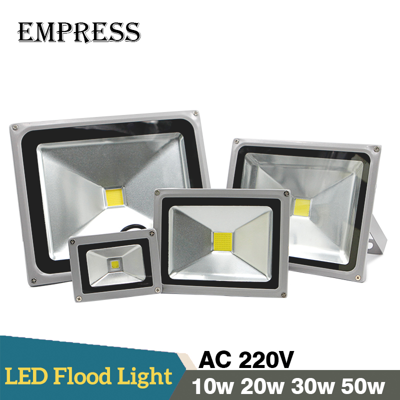 Waterproof LED Flood Light 10w 20w 30w 50w IP65 Floodlight Lamp Reflector  220v Spotlight Outdoor Garden