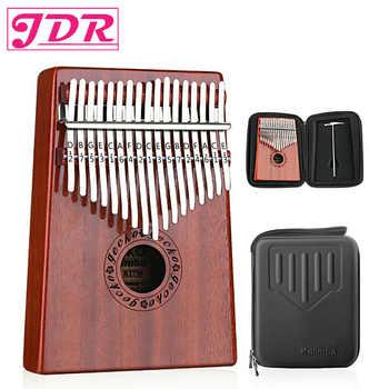 JDR 17 Keys Finger Kalimba Mahogany Thumb Piano EVA High-performance Protective Box Beginners GECKO Keyboard Musical Instrument - DISCOUNT ITEM  16% OFF All Category