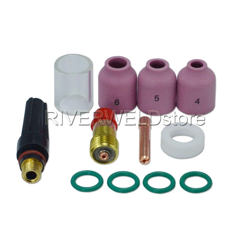 TIG Kit Alumina Nozzle Stubby Gas Lens Collet 17GL116 1/16
