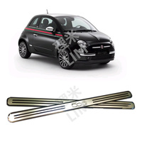Suitable For FIAT 500 500C Stainless Steel Mirror Surface Scuff Plate Door Sill Cover Trim Car