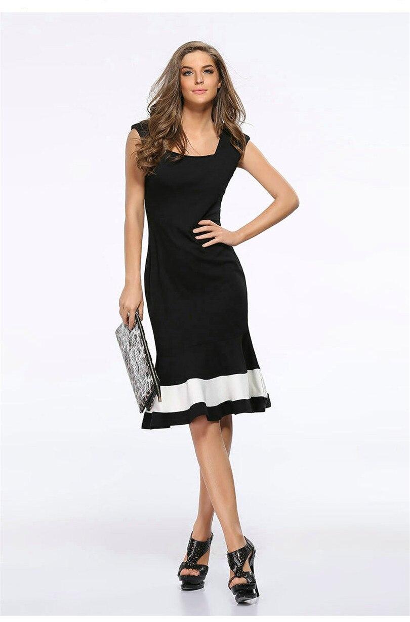 Liva girl sommer dress sleeveless damen schlank trompete nixe dress ...