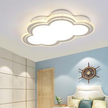 Clouds Modern Led Ceiling Lights For Bedroom Study Room Children Room Kids Room Home Deco White/Blue Ceiling Lamp