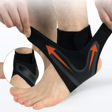 1PC Black Right Left Foot Ankle Protector Sports Ankle Support Elastic Ankle Brace Guard Foot Support Sports Gear(China)