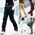 Envío Gratis Nueva Corea Del Estilo del Ocio de Los Hombres Causual Pantalón Pure Fashion Pantalones de Trabajo Pantalones 5 Colores