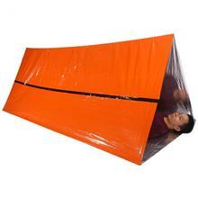 Оранжевое аварийное укрытие, наружное водонепроницаемое термальное одеяло, аварийное спасение, кемпинг, SOS укрытие, складная военная палатка для выживания
