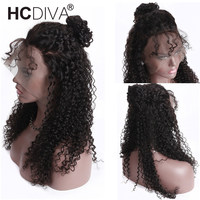 13*4 Lace Front Human Hair Wigs For Women Malaysian Afro Kinky Curly Wig 150% Remy Human Hair Wigs Pre Plucked With Baby Hair