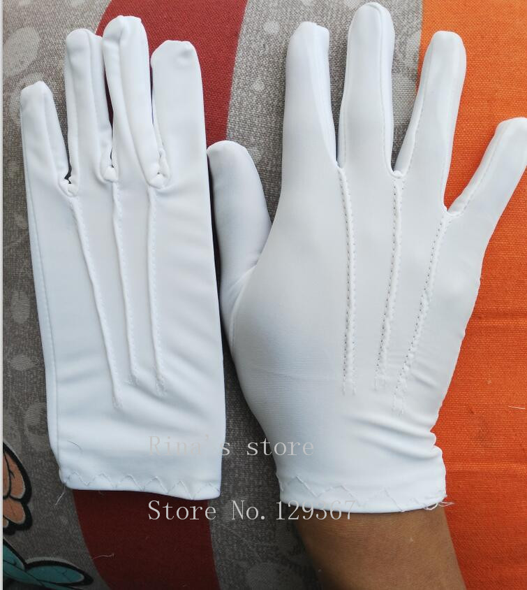 Spring And Summer Men's Thin Large White Etiquette Gloves Male Plus Size Elastic Gloves Wholesale