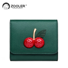 2019 NEW/ HOT fashion leather wallets small ZOOLER Cow Leather Wallet purses COW clutch bag girl women brand high quality #TC205