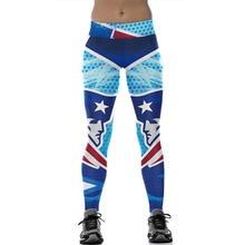 European/American Hot Sale 3D Digital Printed Leggings Women Sporting Trousers Plus Size Fitness Workout Clothes Pencil Pants