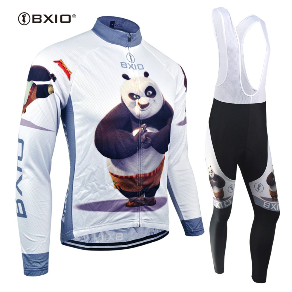 BXIO 2017 Funny Cycling Jersey Set Pro Team Long Sleeve Bike Clothing Roupas Para Ciclismo Mujer Spring Bicycle Clothes 081 hot cheji men bike long jersey pants sets hornets black pro team cycling clothing riding mtb wear long sleeve shirts