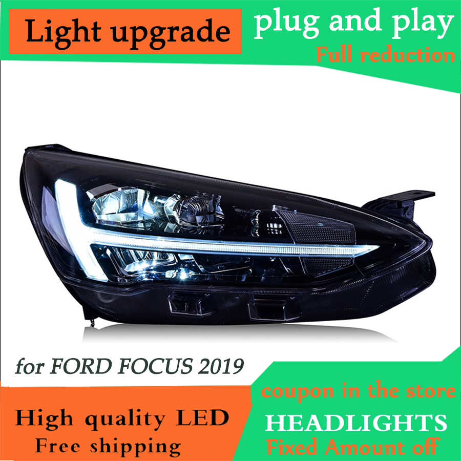D YL Car Styling Head Lamp for Ford Focus 2019 Headlights Assembly Full LED Headlights Dynamic