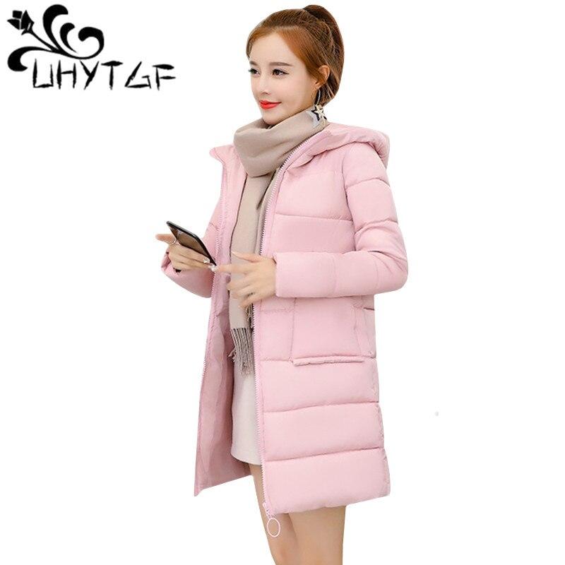 100% Kwaliteit Uhytgf Mode Dikke Warme Winter Jas Vrouwen Uitloper Parka Katoenen Jas Vrouwelijke Puffer Jas Koreaanse Down Katoen Hooded Lange Jas