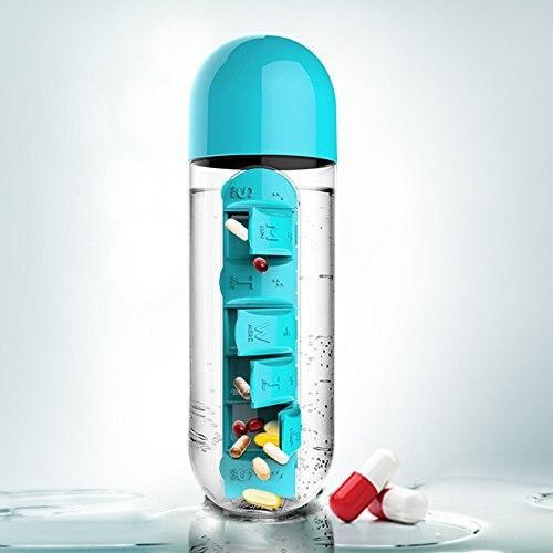 HADELI Творческий watter бутылки с 7-День Портативный комплект для 2 в 1 Открытый Проведение Водолей медицины Бутылки для воды цвет случайный ...