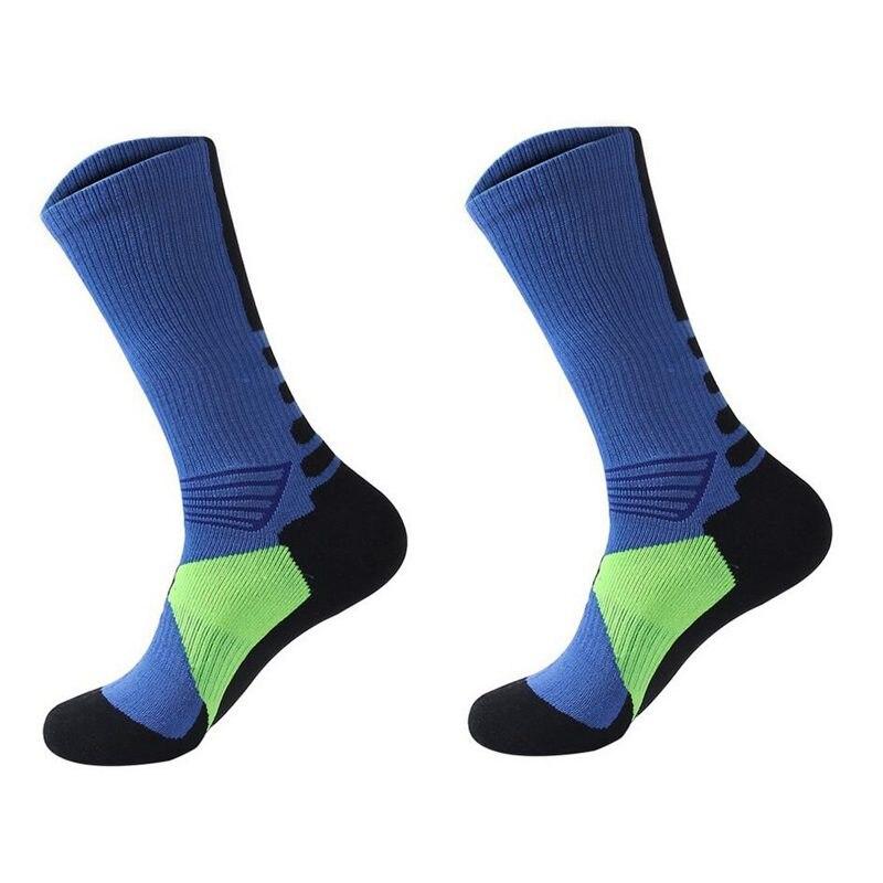 1 Pair Professional Basketball Socks Athletics Socks Outdoor Sports Socks Stocking(white)