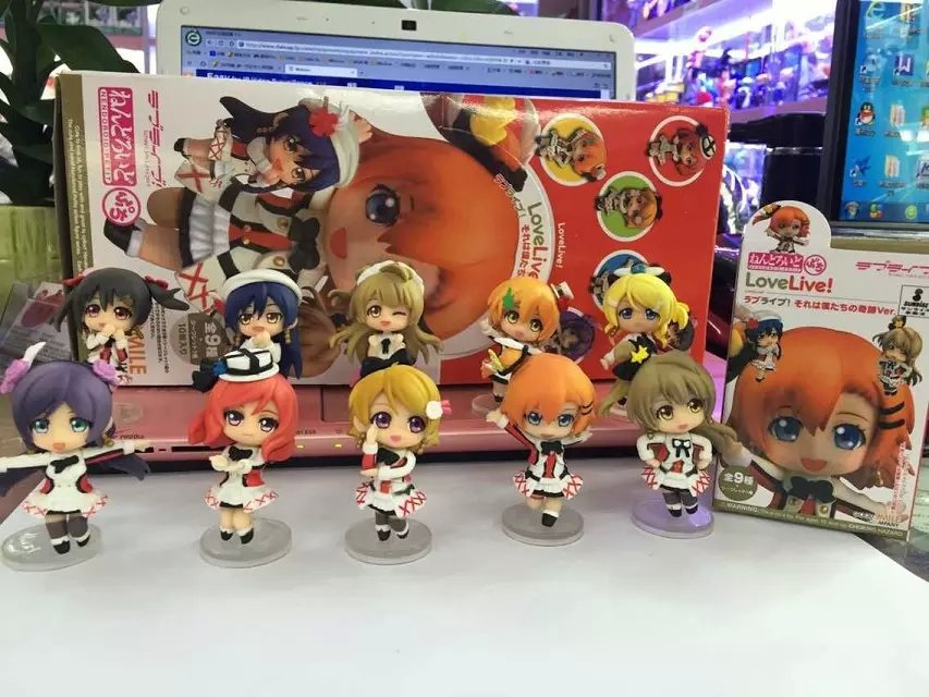 10pcs/set Anime Love Live! School Idol Project Mini PVC Action Figure Collectible Model Toy Doll KT658 anime one piece dracula mihawk model garage kit pvc action figure classic collection toy doll