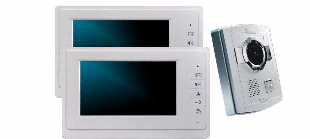 7 Inch 1V2 HD 700TVL Wired Intercom Vision Video Door Phone