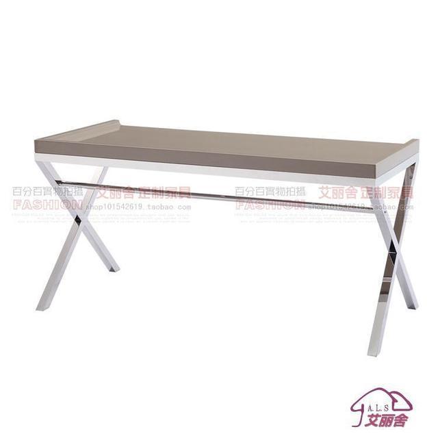elegante , moderno mobili in acciaio inox su misura piano scrivania ...