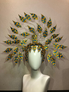 Image 5 - Brazil Rio Spanish Cuba Santiago Havana Venice Dionysia carnival Float Mask dress masque ball costume samba plumage plume Headd