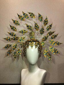 Image 5 - Máscara flotante de Carnaval de Río, Brasil, Cuba, Santiago, La Habana, Venecia, Dionysia, vestido de baile de máscaras, disfraz de samba, plumaje, plume, Headd