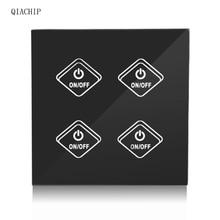 ФОТО wifi smart switch 4 gang light wall switch app remote control timing function with work  amazon alexa google home uk plug z2